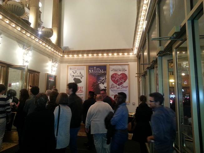 entering theatre