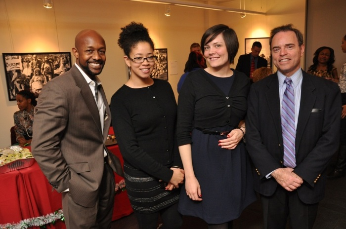 Members of the Access Living Development Team and Supporter (L-R): Jason X. Gilmore, Vatonna Dunn, Megan Groves, Larry Stark.
