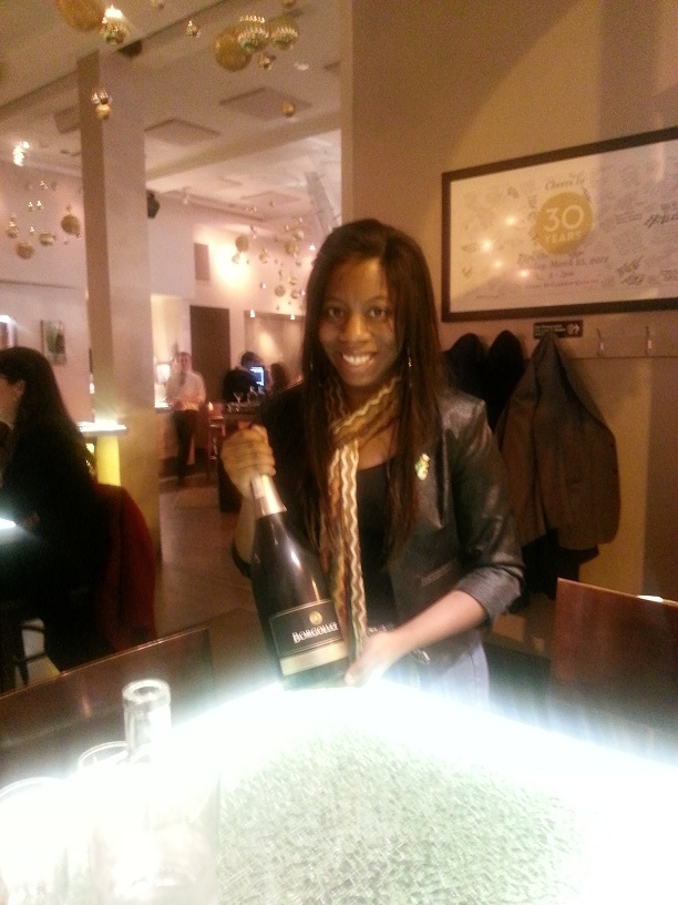 Pops - Rachel with Champagne