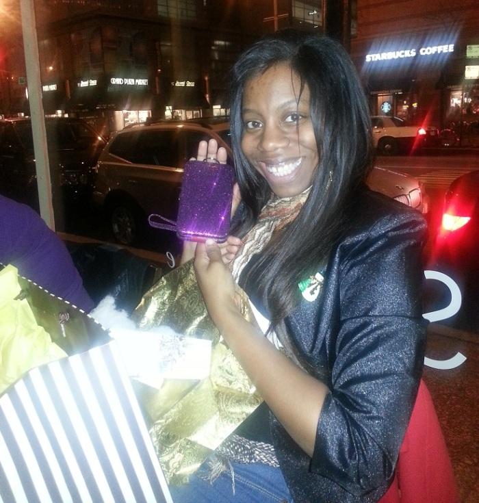 Pops - Rachel with grad gifts 2