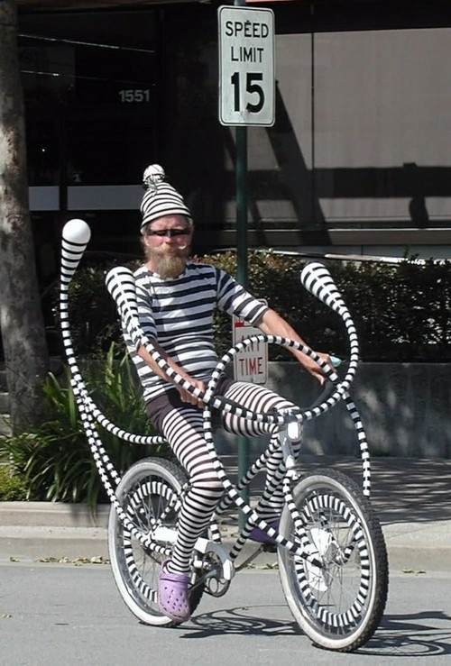 Onlyness - man on bike