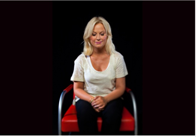 amy poehler - woman with eyes closed