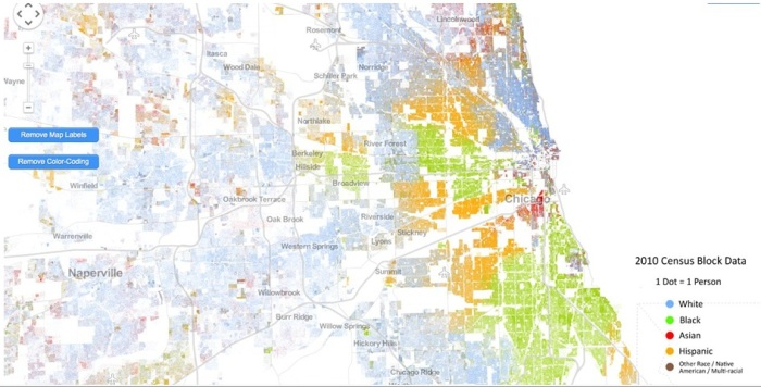 Cooper Center demographics map
