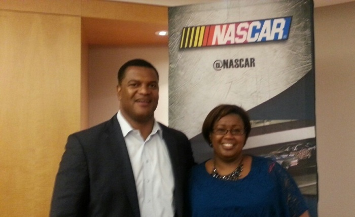 NASCAR Chicago me and Marcus Jadote