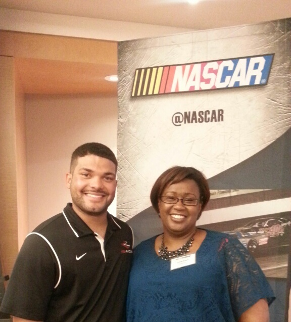 NASCAR Chicago me and Ryan