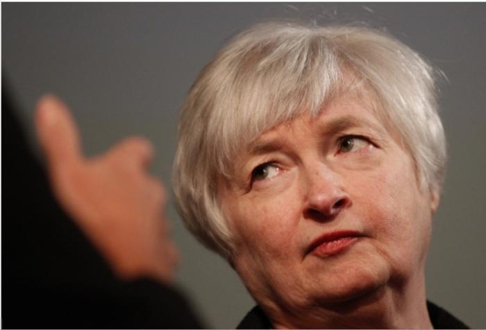janet yellen - woman looking skeptical