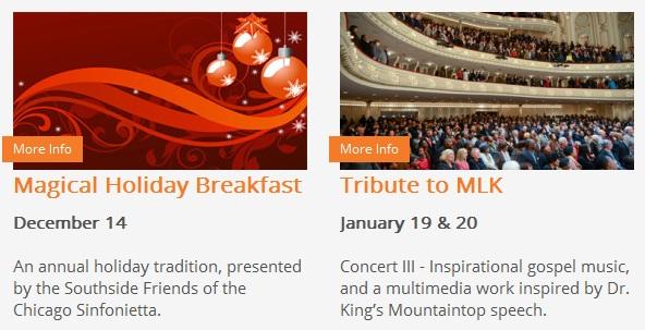 Sinfonietta - upcoming performances