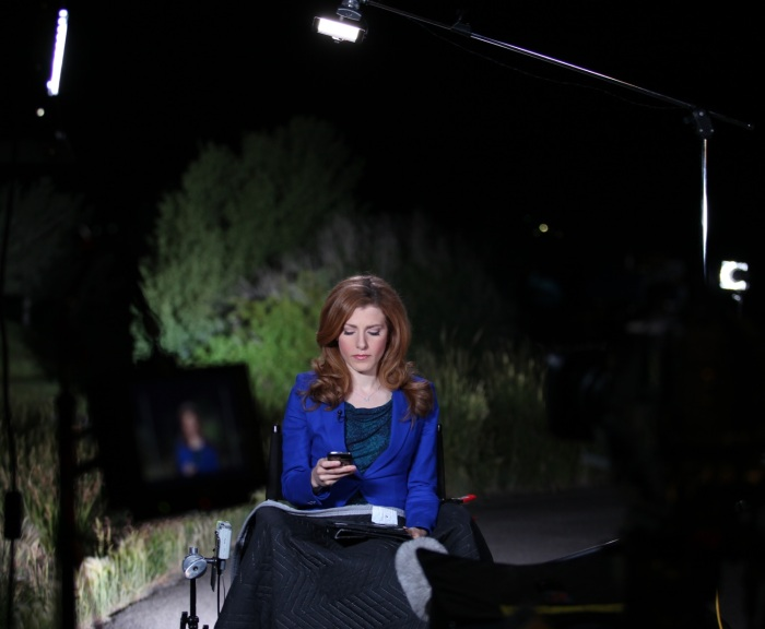 Reporter wakes up early