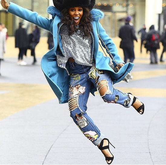juneambrose by quistyle jumping and smiling